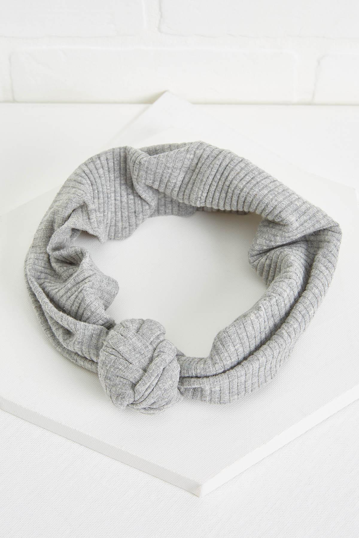 Ribbed Gray Headwrap