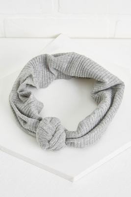 ribbed gray headwrap