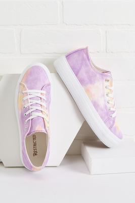 pastel tie dye sneakers