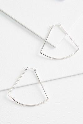 metal triangular earrings