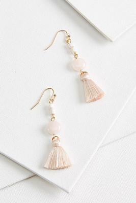 teeny tiny tassel earrings