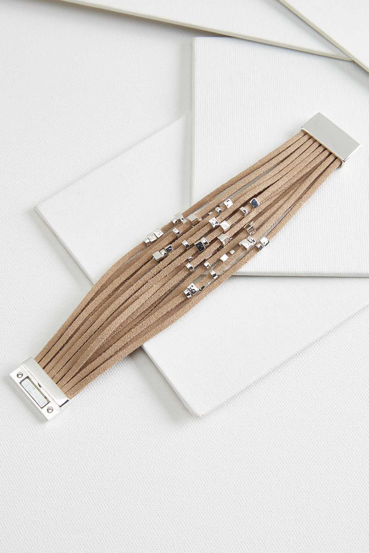 Suede And Sparkle Bracelet