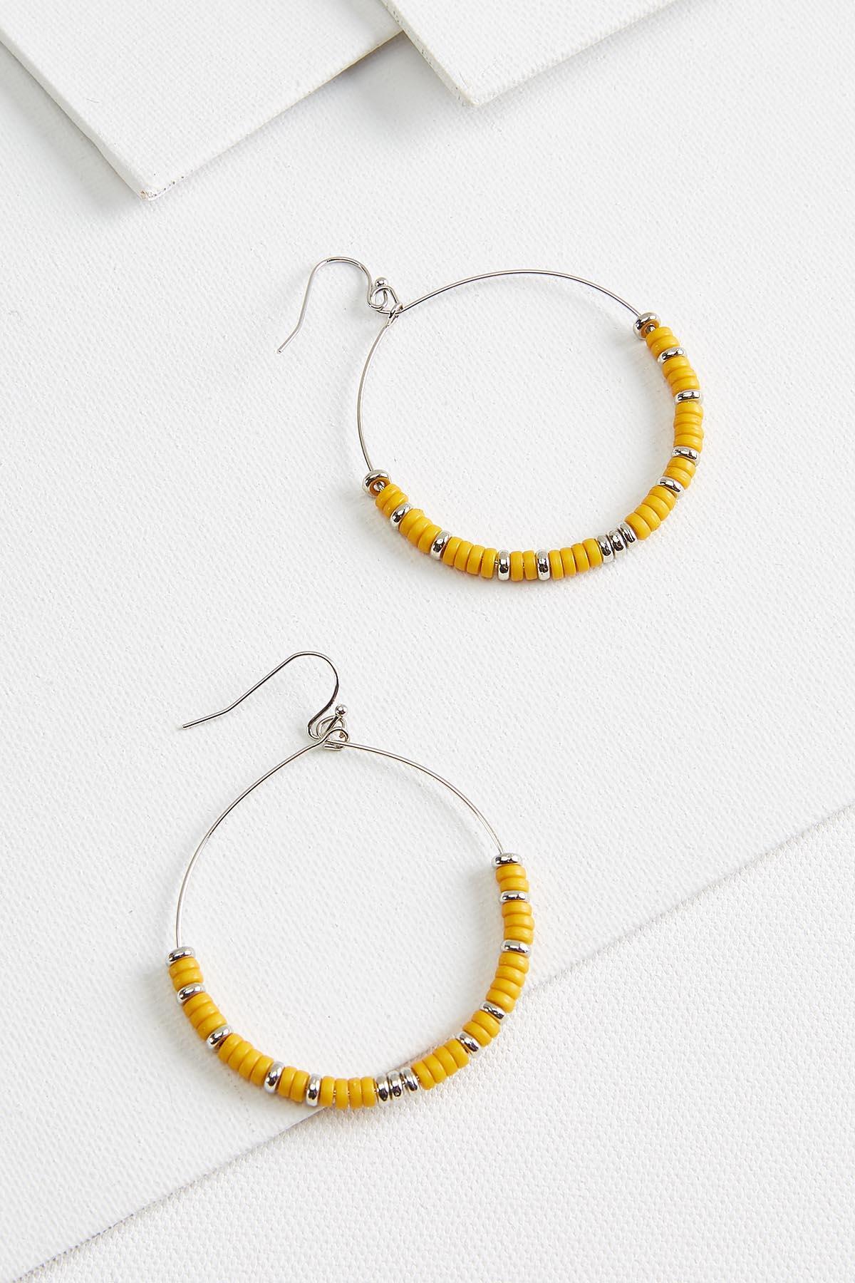 Boho Bead Hoop Earrings