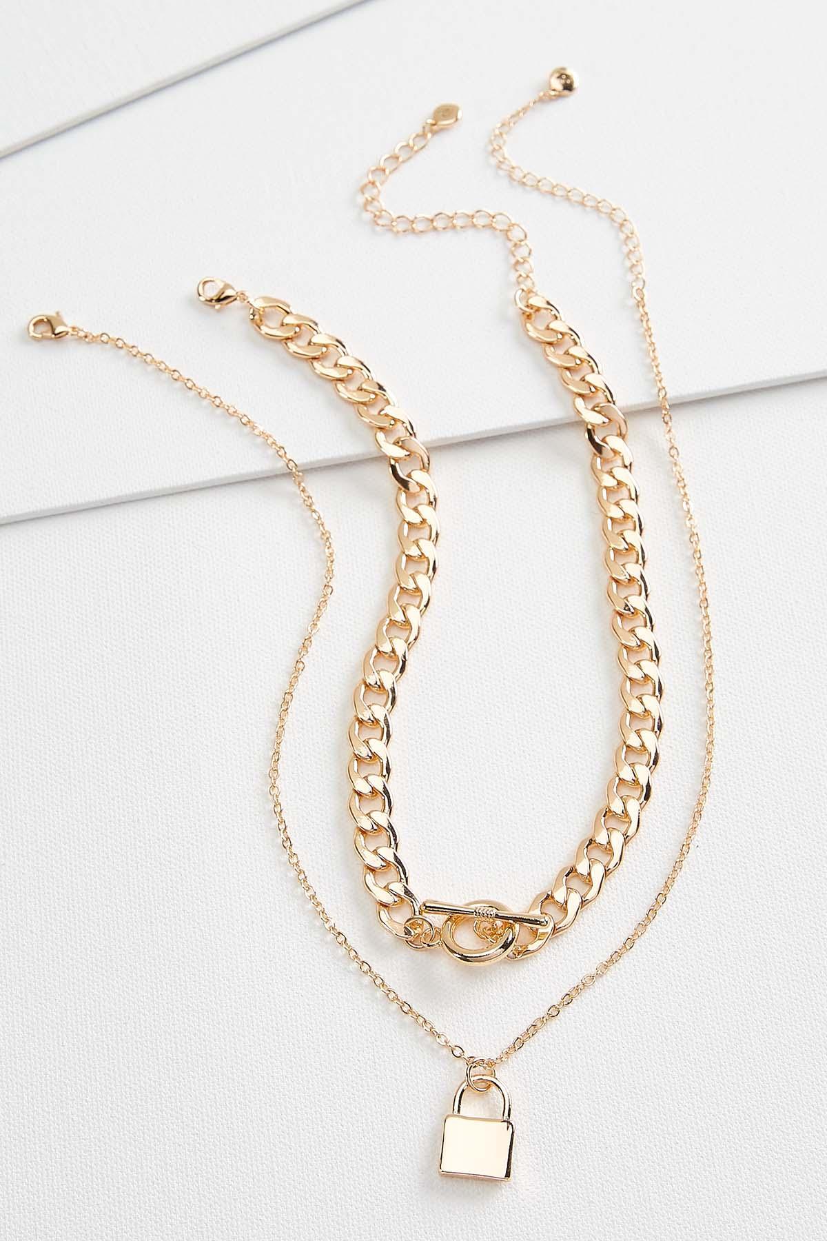 Chain Link Locket Necklace