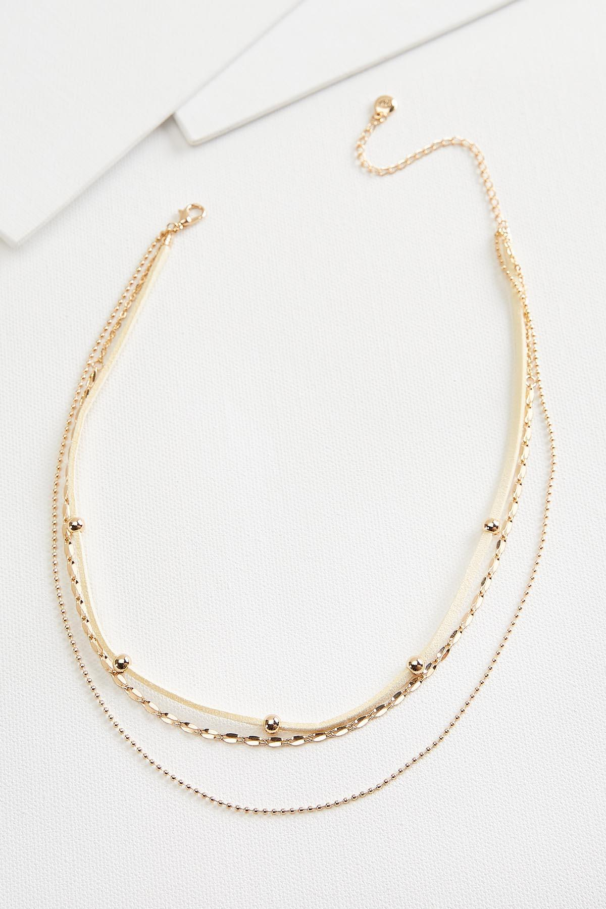 Layered Leather Necklace
