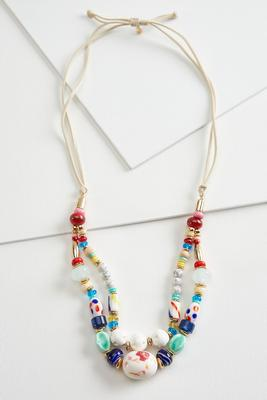 chunky corded necklace