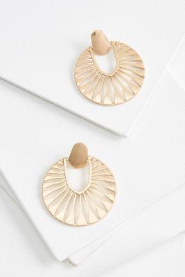 metal sunray earrings