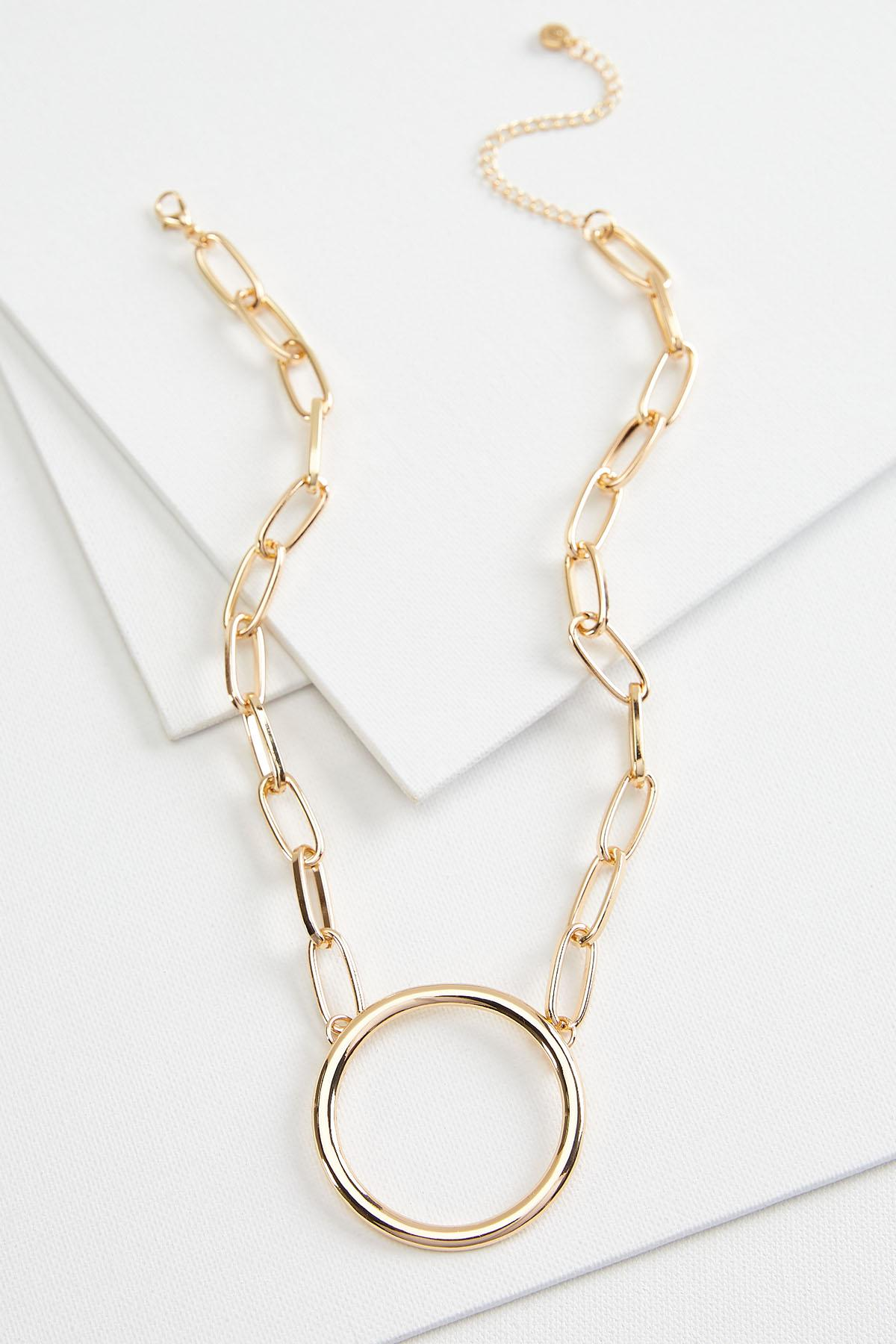 Chunky Chain Pendant Necklace