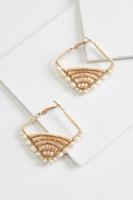 sparkle square earrings