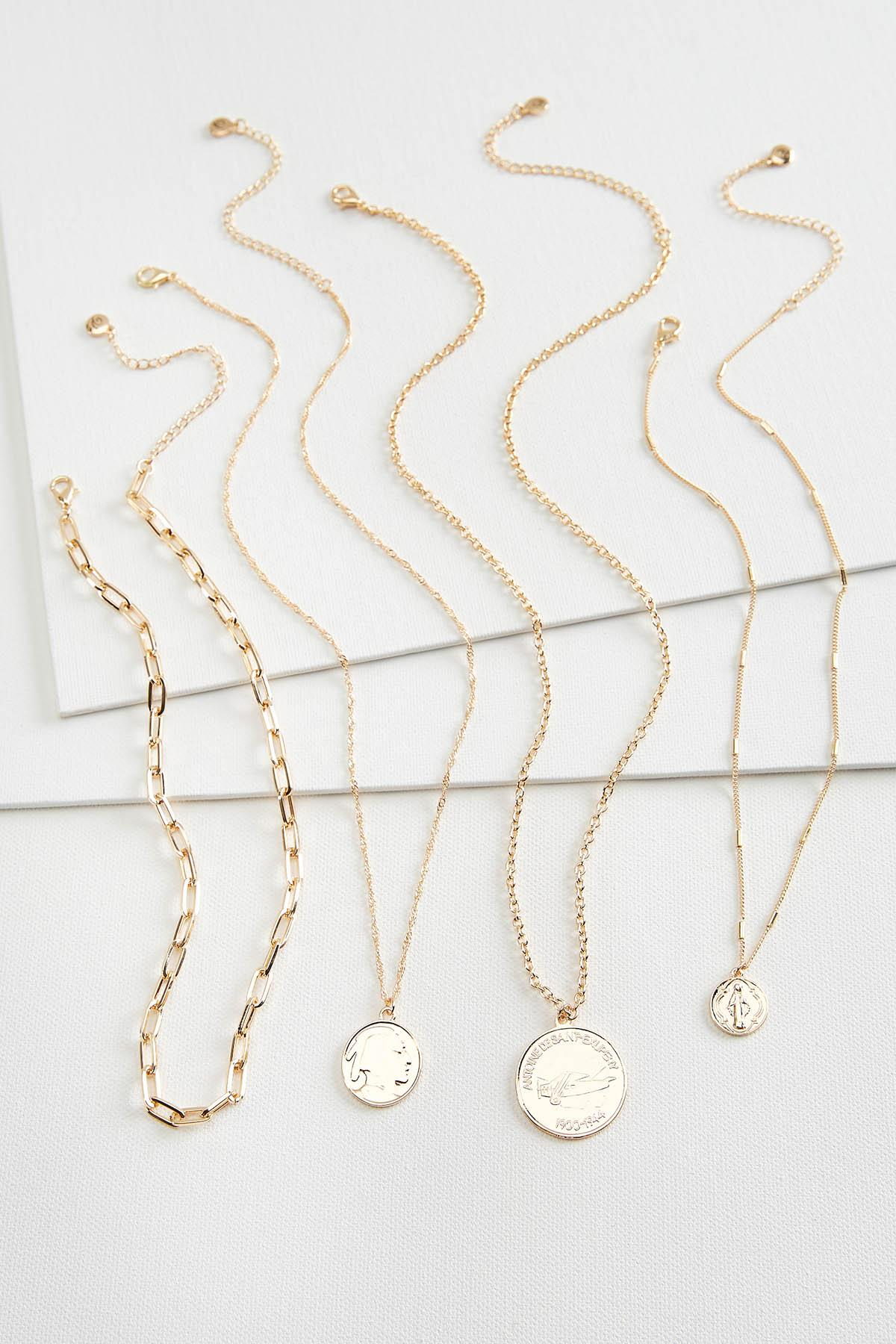 Multi Layered Coin Necklace