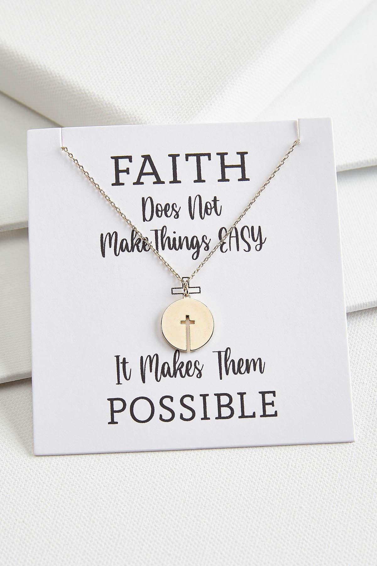 Cutout Cross Disc Necklace