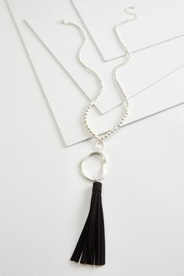 metal and leather necklace