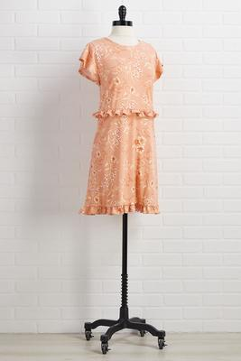 sweet as can peach dress