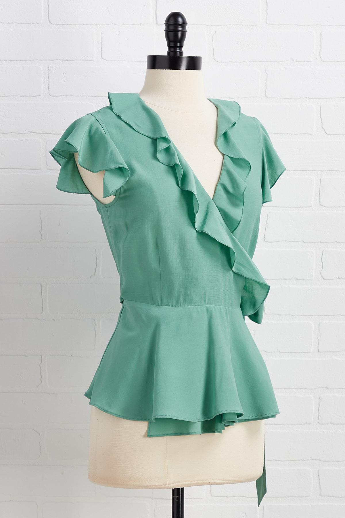 Put To The Side Tie Top