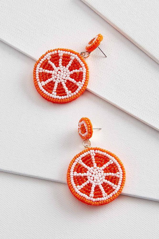 Orange These Cute Earrings