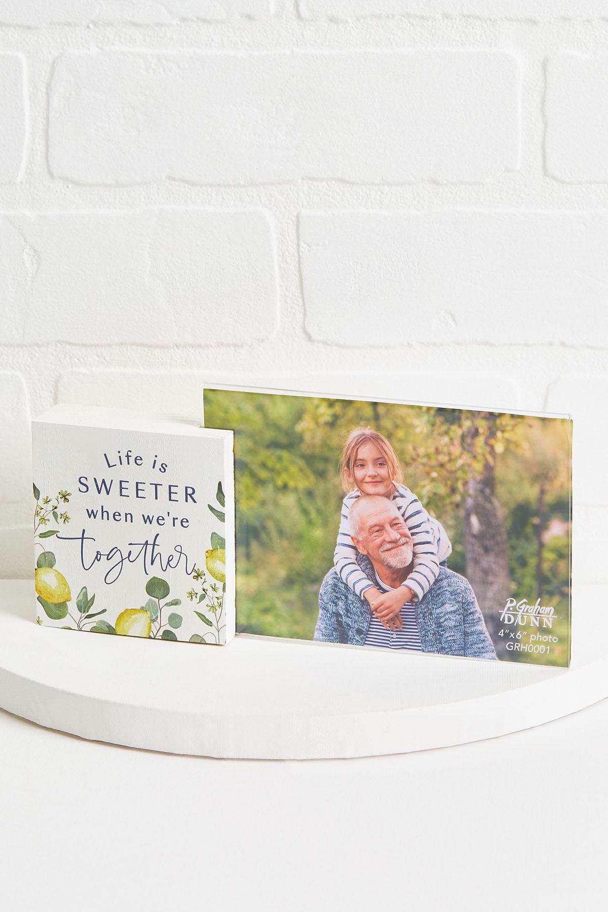 Sweeter Together Photo Frame