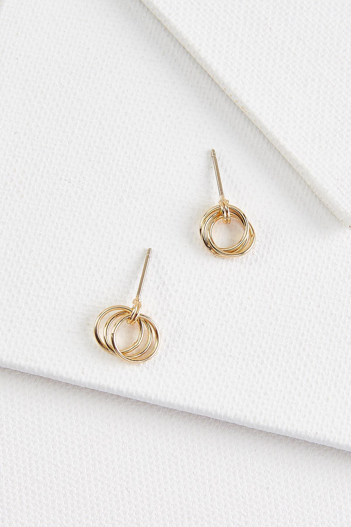 Dainty Circle Earrings