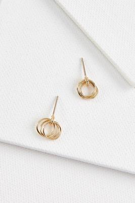dainty circle earrings