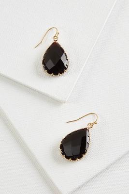 color tear earrings