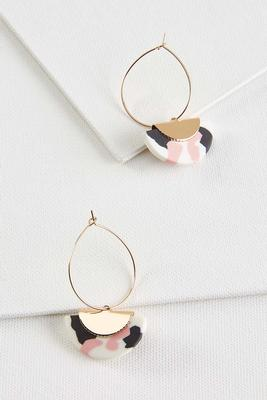 colorful clay earrings