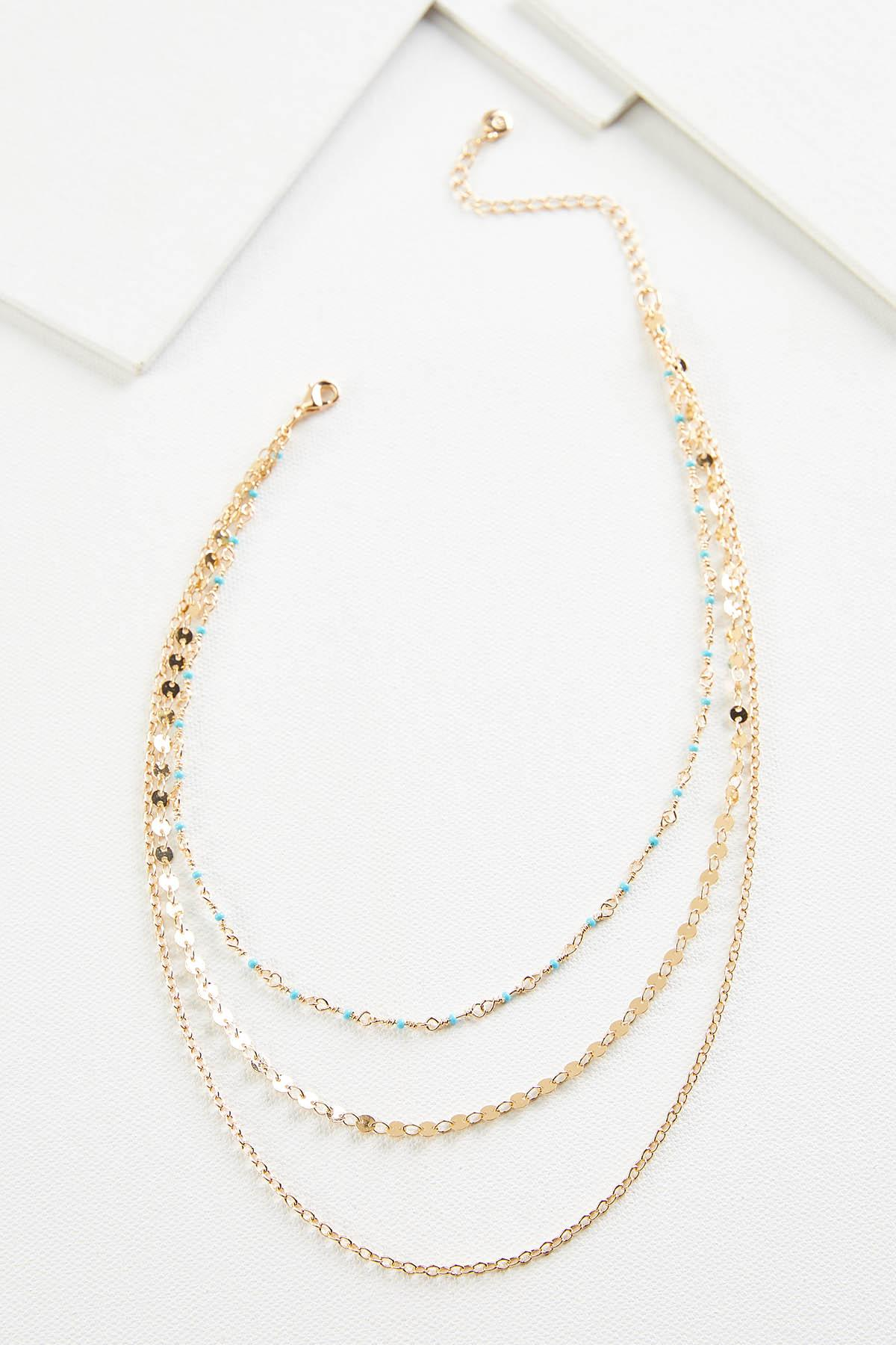 Chain And Seedbead Necklace