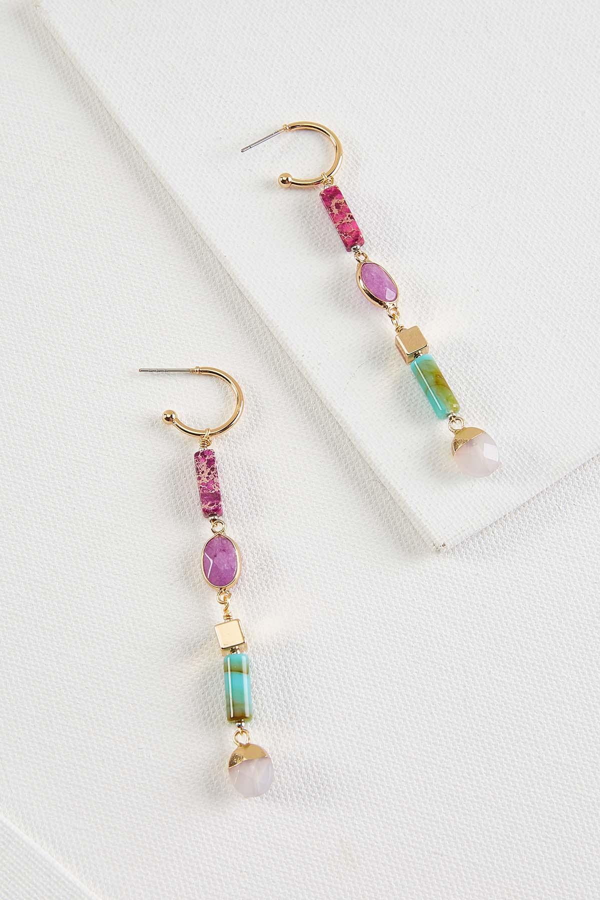 Linear Beaded Earrings
