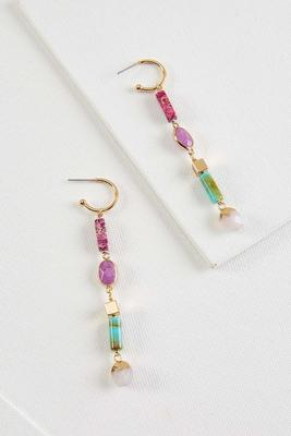 linear beaded earrings