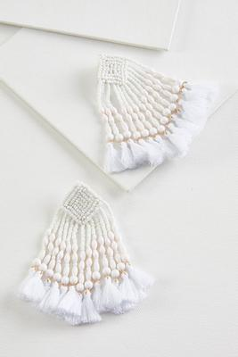 winter white earrings