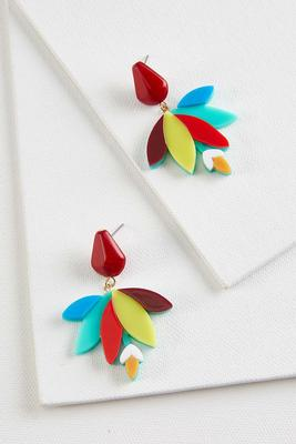 vibrant floral earrings