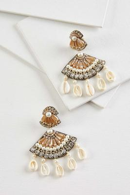 sparkle shell earrings