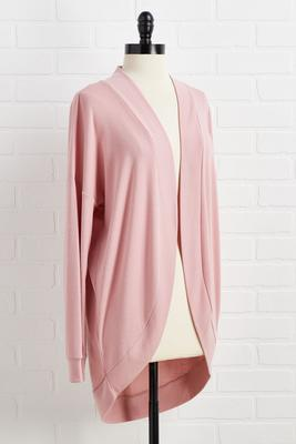 think pink lounge cardigan