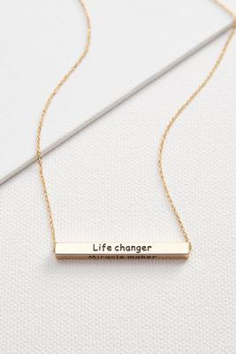 mother flip bar pendant necklace