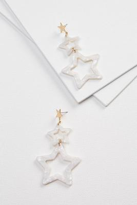 large lucite star earrings