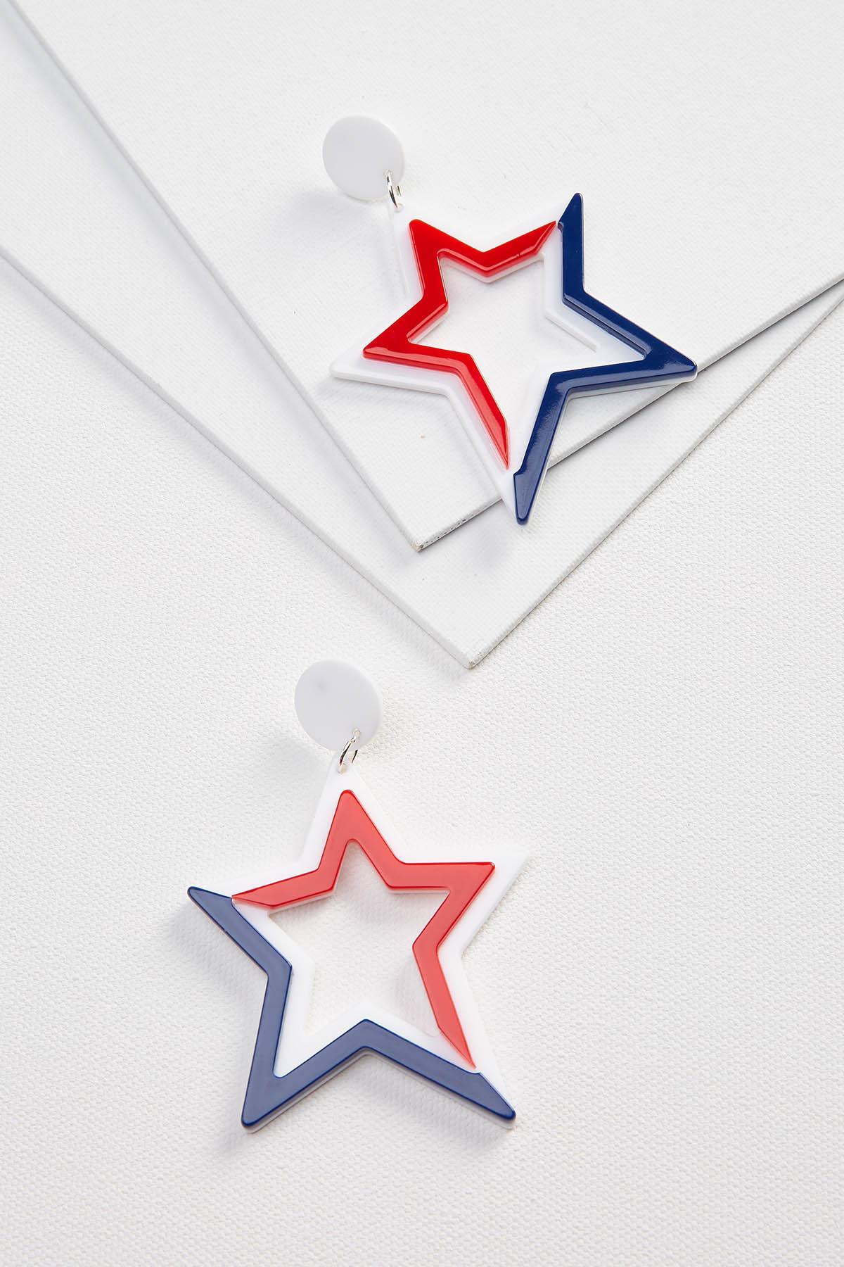 Acrylic Americana Earrings