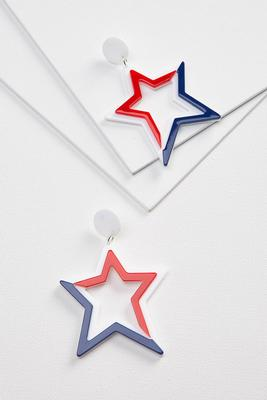 acrylic americana earrings