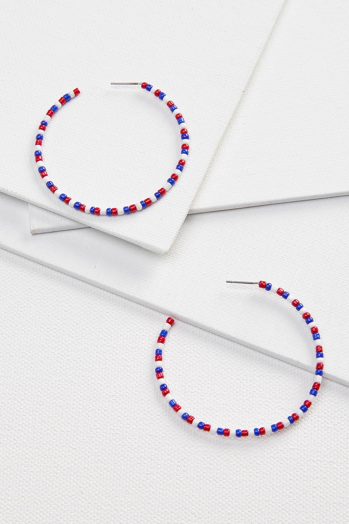 Beaded Americana Earrings