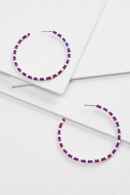 beaded americana earrings