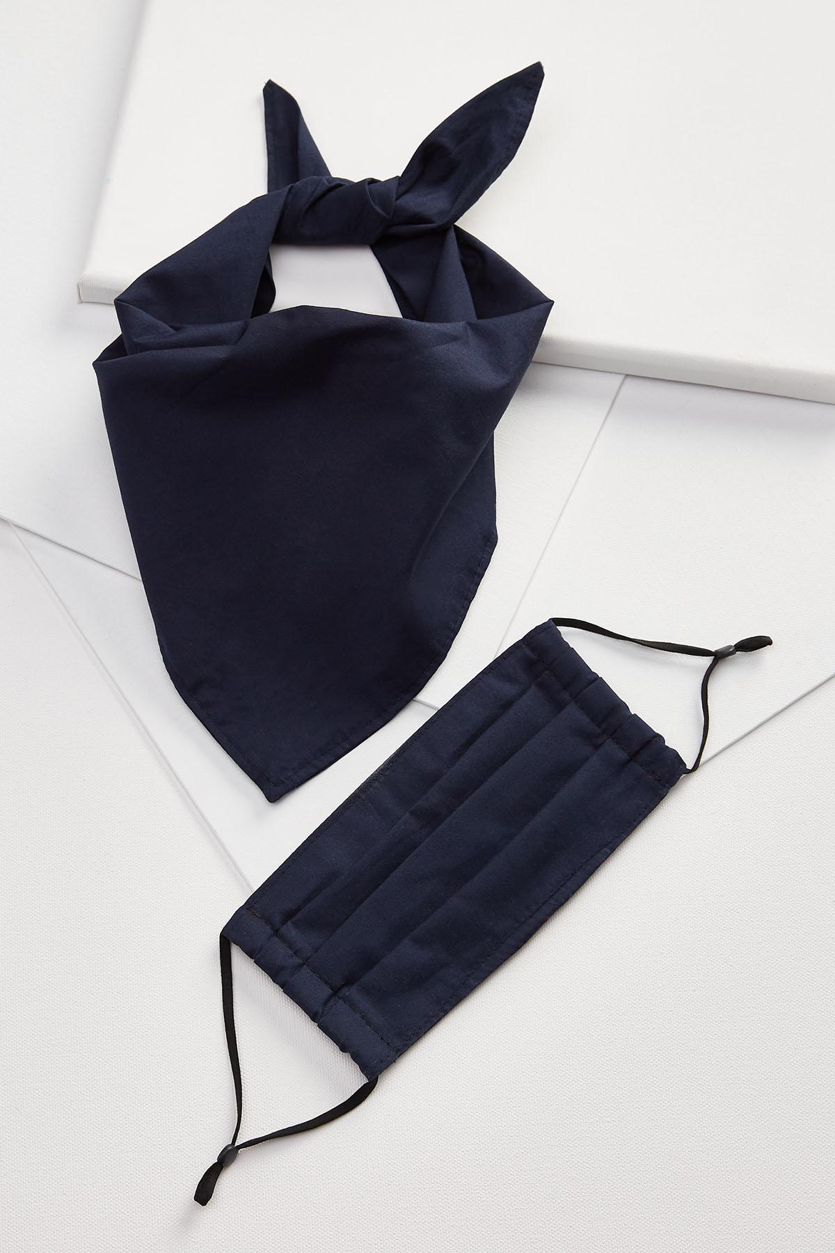 Small/Medium Navy Mask And Bandana Set