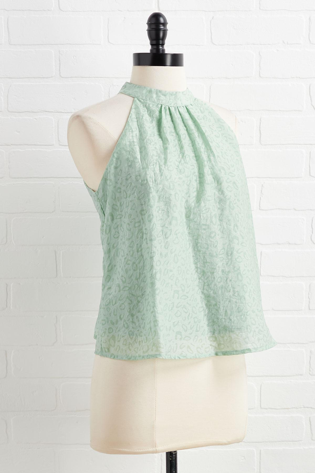 Feeling Some Excite- Mint Top