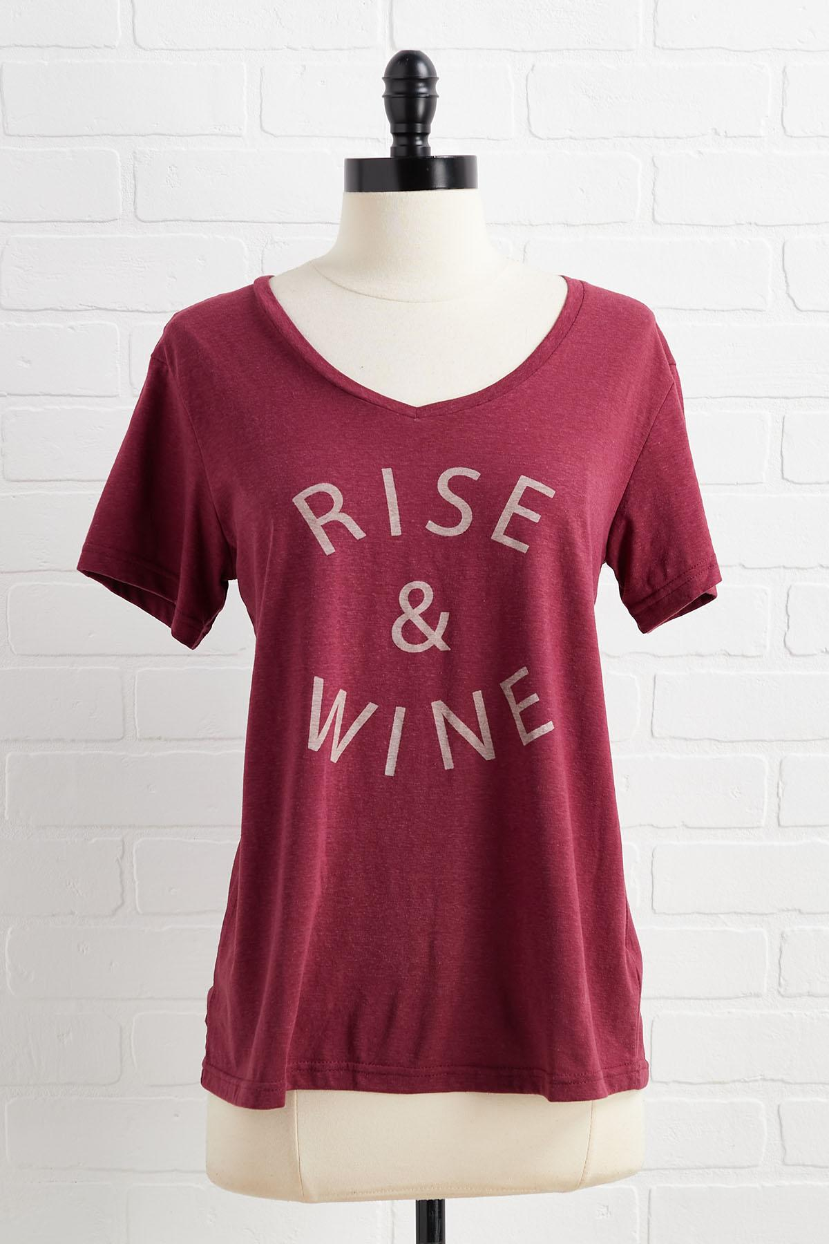 Rise And Wine Tee