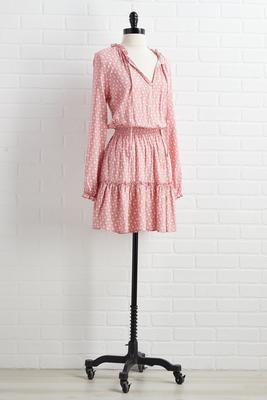 pink peonies dress