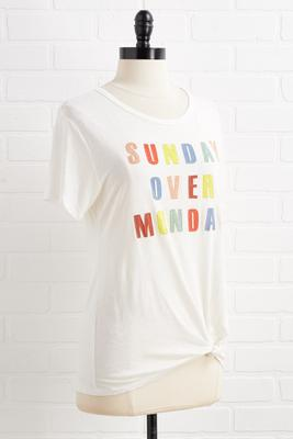 sunday over monday tee