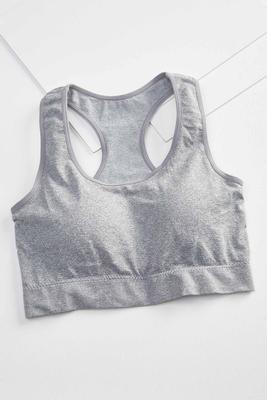 gray racerback bra
