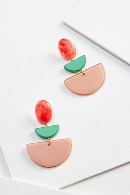 tiered acrylic earrings
