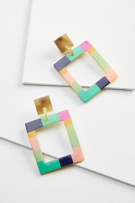 painted lucite earrings