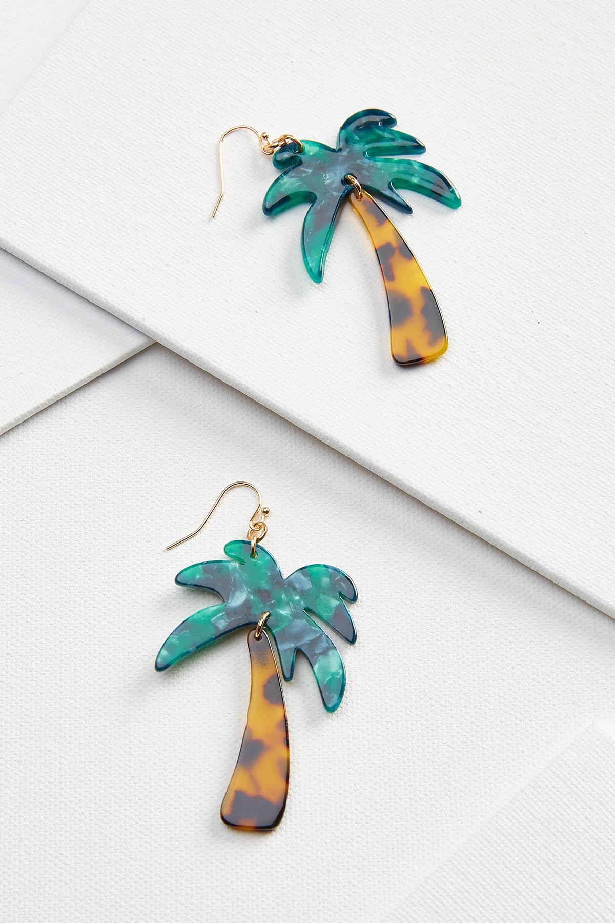 Lucite Palm Tree Earrings