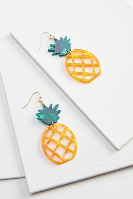 pineapple lucite earrings