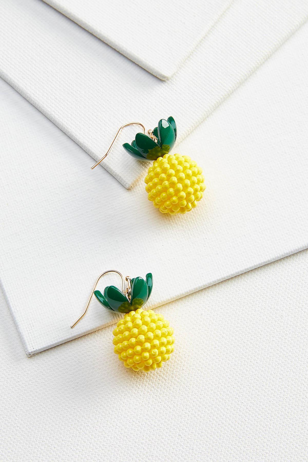 Beaded Pinapple Earrings