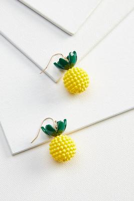 beaded pinapple earrings