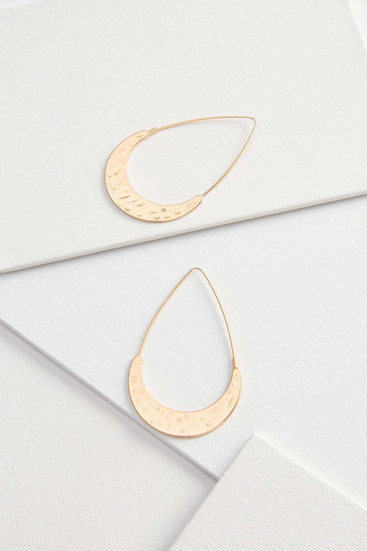 Metal Crescent Earrings